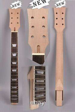 Kit Guitare 1set Collier Guitare 22fret Corps Guitare Maple Acajou Trapézoïde En Bois