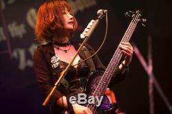 Le Rio Blood Mary Modèle Basse Choisissez Set Noir Et Blanc New Sago Guitars Withtracking #