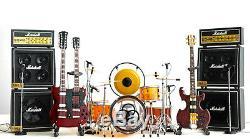 Led Zeppelin Guitare Miniature Et Drum Set B Avec Timpani, Gong, Ampère Et Micro