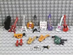 Lego Instruments De Musique Guitare Saxophone Violon Cas Bugle Corne Cornemuses Nouveau