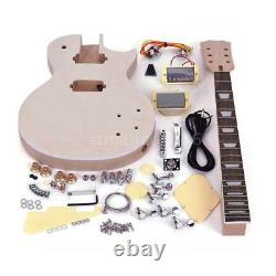Lp Electric Guitar Diy Kit Unfinished Set Top-solid Mahogany Body Neck Gift Hot
