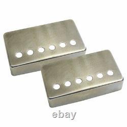 Master Relic Nickel Vieilli Silver Humbucker Covers Set Pour Guitares Gibson Vintage