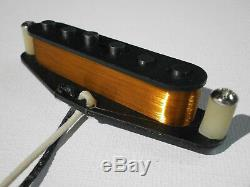 Micros De Guitare Stratocaster Set Handwound David Gilmour Noir Strat Clones