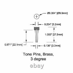 New Bridge Pin Set Tone Pin For Acoustic Guitars Tp2a Solid Brass With Abalone