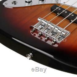 New Jazz Basswood Gauchère Guitare Basse Électrique Set Pour Débutants Sunset