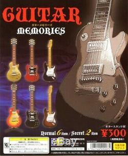 New Konno Guitar Souvenirs Instrument De Musique Capsule Toy Set Complet De 6 Guitares