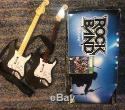 New Rock Band Drum Set Xbox 360 Harmonix Bundle Microphone 2 D'occasion Guitare + Jeu