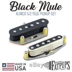 Noir Mule Telecaster Set De Ramassage À La Main Pour Guitare Wound Tele Style Alnico 5/2