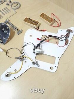 Non-soudure Guitare Électrique Diy Kit, Corps En Acajou Massif Et Du Cou, Ensemble Dke400