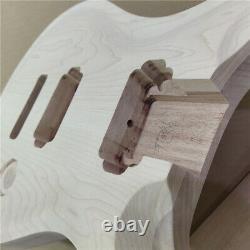 Nouveau 1 Ensemble Inachevé Manche De Guitare Et Corps Prs Style Kit De Guitare Électrique Diy Partie