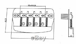 Nouveau 1 Set 5 Cordes Basse Électrique Pont Pour Guitares Basses Musicman (noir)