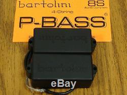 Nouveau Bartolini 8s P De Split Basse Pickup Set Pour Fender Precision Bass Guitar Noir