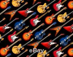 Nouveau Custom Made 4 Pièces Rockabilly Electric Guitars Et Flames Literie Literie