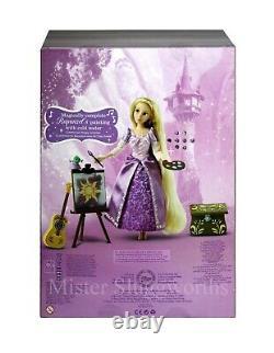 Nouveau Disney Store Rapunzel Chant 11 Poupée Deluxe Set Guitar Tangled Princesse