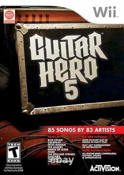 Nouveau Nintendo Wii Wii-u Guitar Hero 5 Band Set Kit Avec Drums +mic +guitar Game Bundle