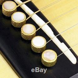 Nouveau Pont Pin Pin Set Tone Pour Guitares Acoustiques Tp3m Brass Solid Pearl Inlay