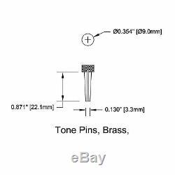 Nouveau Pont Pin Pin Set Tone Pour Guitares Acoustiques Tp4t Brass Solide Avec Dot Pearl