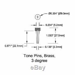 Nouveau Pont Pin Set Tone Pin Pour Guitares Acoustiques Tp2a Laiton Massif De L'ormeau