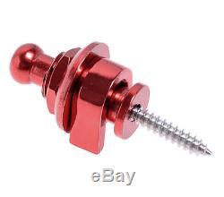 Nouveau Set 2 Straplock Tie-strap Red Haute Qualité Toutes Guitares