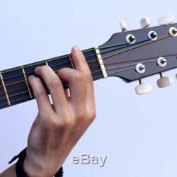 Nouveau Set 6pcs Arc-en-coloré Cordes Couleur Pour Guitares Acoustiques Accessoires