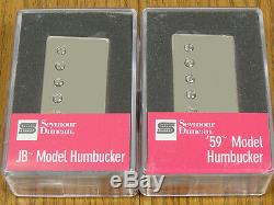 Nouveau Seymour Duncan Sh-4 Jb & Sh-1n 59 Nickel Humbucker Pickup Set Micros Guitare