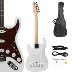 Nouveau Style School Band Student Electric Guitar Set Instrument De Musique Blanc