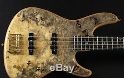 Nouveau Ts Guitare Basse Omni 4/22 Exotique / E Buckeye Burl Top F. B. / Set-cou Naturel