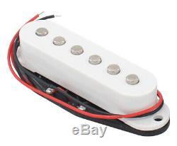 Nouvel Ensemble De Micros Hot À Simple Bobinage Pour Guitares Stratocaster Strat Blanc