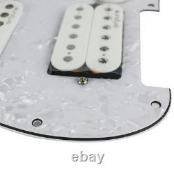 Oripure 1 Set Alnico 5 Pickups Charged Prewired Strat Guitar Pickguard 4ply Ssh