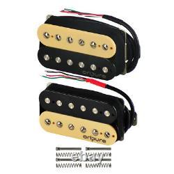 Oripure Alnico 2 Hh Guitar Humbucker Pickup Set Collier + Pont Double Coil Zebra