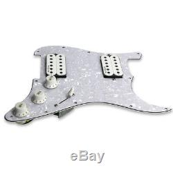 Oripure Chargé Strat Hh Guitar Pickguard Précâblés Alnico 5 Humbucker Set De Ramassage