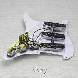 Oripure Prewired Alnico 5 Pickup Pickup Pickguard Set Pour Guitare Strat Sss