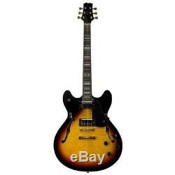 Peavey Jf-1 Creux Body Style Jazz Guitare Électrique, Rayon De Soleil # 00532240