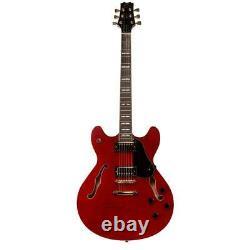 Peavey Jf-1 Hollow-body Jazz Style Guitare Électrique, Transparent Red #00532230
