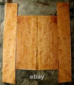 Quarterswawn Burly Cerisier Black Cherry Guitar Guitare Tonyned Dos Et Côtés Set 1051