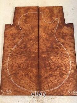 Redwood Burl Livre Match Mis Luthier Bois De Guitare. 34 X 12-15 X 19,75 #s-83