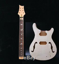 Remplacement Bois Massif 1set Guitare Électrique Kit Guitare Cou 22fret Corps Guitare