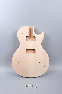 Remplacement Unfinished Corps Guitare Acajou Guitare Électrique Set In P90 Pick-up