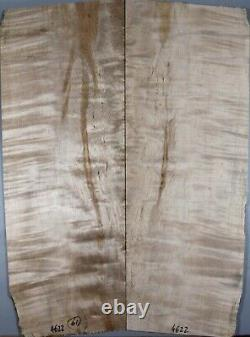 Ripple Spalted Maple Wood Les Paul Guitar Bookmatch Drop Top Set Luthier 4622