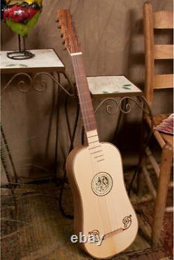 Roosebeck Baroque Acoustique Guitare 5-cours Avec Gig Bag + Ensemble De Cordes