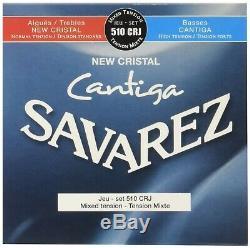 Savarez Guitares Classiques Cordes New Cristal Cantiga Set 510crj Mixte Tensio