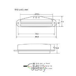 Set 3 Oripure Alnico 5 Hot Rail Micros Humbuckers N / M / B Pour Strat Sss Guitare