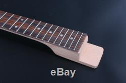 Set Guitare Électrique Diy Corps + Cou Guitare Acajou Unfinished Guitar Kit Projet