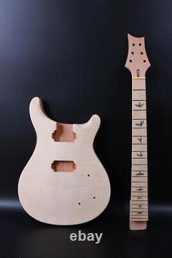 Set Mahogany Guitar Body+neck Maple Fretboard Color Incrustation Diy Electric Guitar