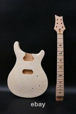 Set Mahogany Guitar Body+neck Maple Fretboard Diy Guitar Kit Quilted Maple