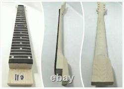 Set Neck Electric Guitar Diy-full Kit, Semi-hollow Body, No-soudering. Gk Hsrc 1910