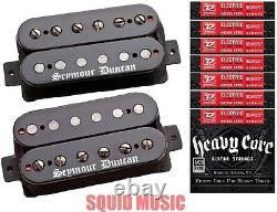 Seymour Duncan Black Winter Humbucker Black Guitar Pickup Set (6 Sets Strings)