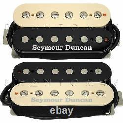 Seymour Duncan Sh-18n Whole'lotta Humbucker Custom Zebra Guitar Pickup Set Nouveau