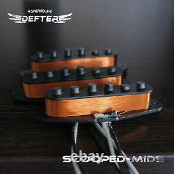 Strat Pickup Set For Strat Guitar Handwound Alnico5 Relic Scooped-mids