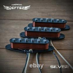 Strat Pickup Set Pour Stratocaster Guitar Handwound Alnico5 Silver John Mayer